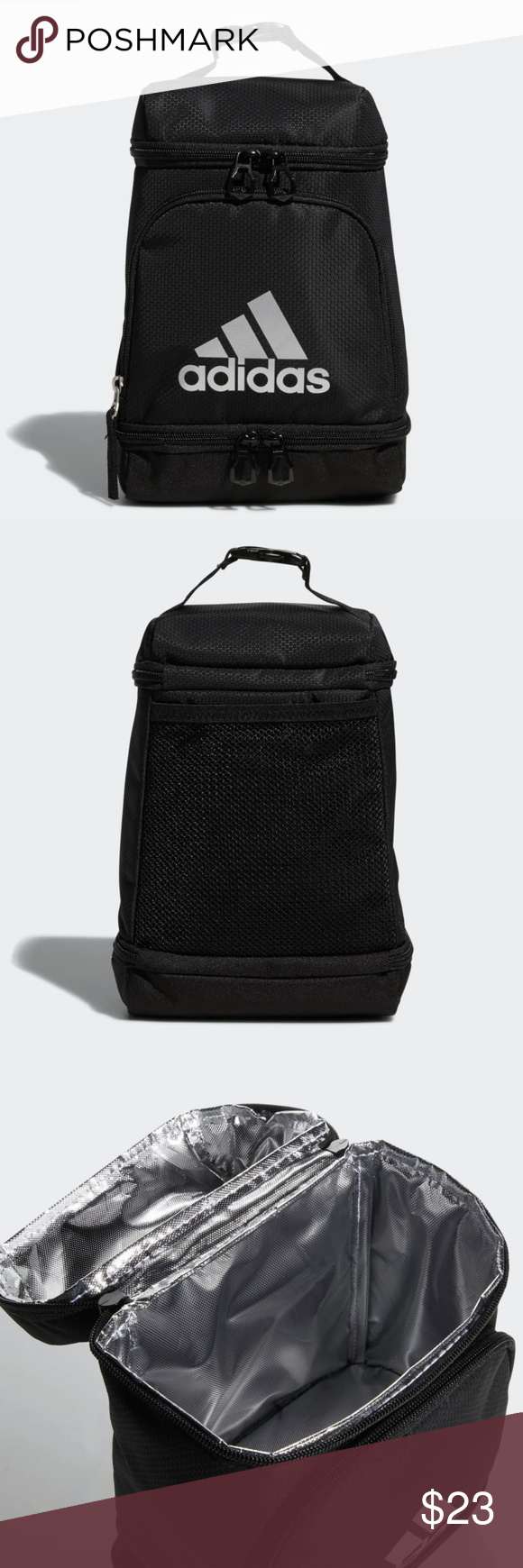 acd6a253677 ADIDAS Excel Lined Lunch Bag (Black) Brand New w/Tags - Adidas Lined ...
