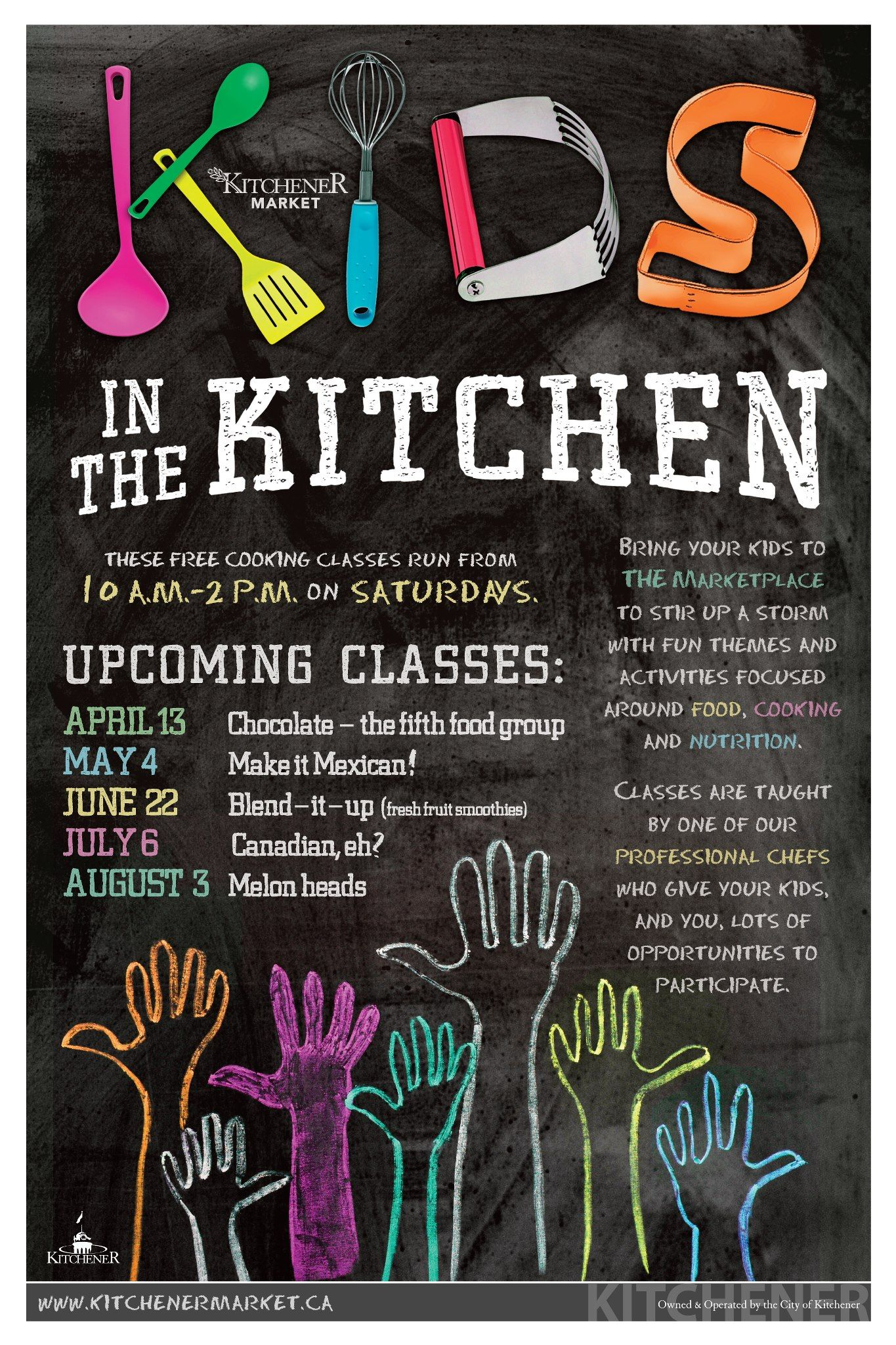 Free Kids Cooking Lesson Kitchener Market Cooking Classes For Kids Kids Cooking Lessons Cooking Classes Design
