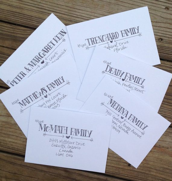 Handwritten Wedding Invitations Envelopes: Handwritten Envelope Addressing, Wedding Calligraphy