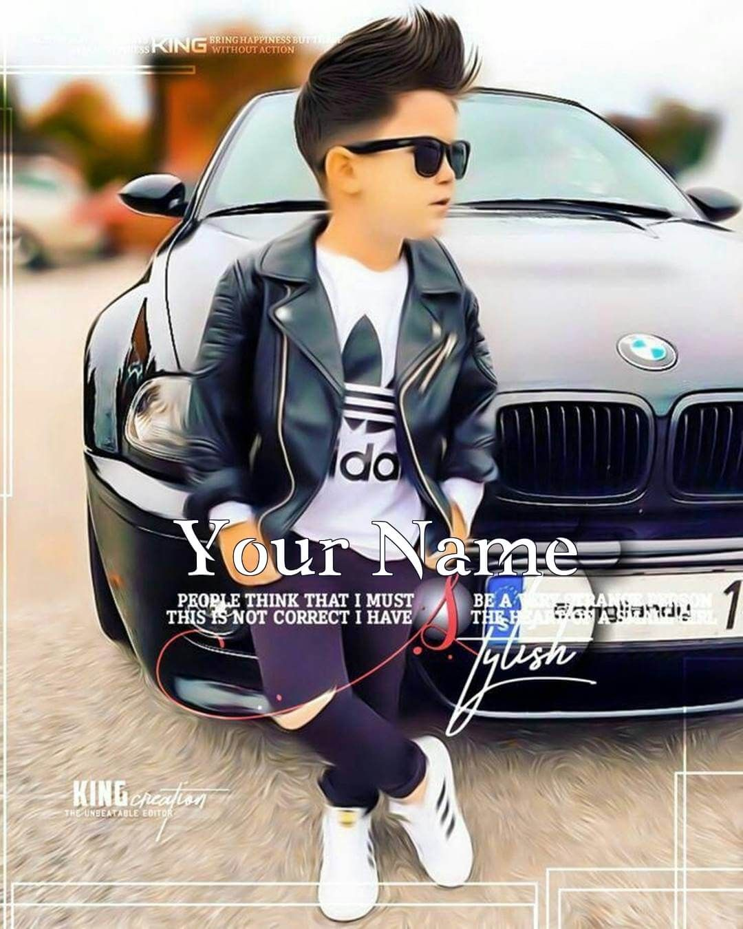 Write Name On Cool Boy Dp With Car Stylish Little Boys Photo Poses For Boy Cute Boys Images