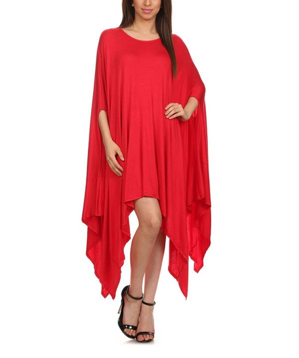 Look at this Karen T. Design Red Handkerchief Dress on #zulily today!
