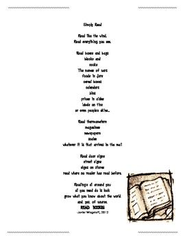 FREE POEM To Give Your Students at the End of the School
