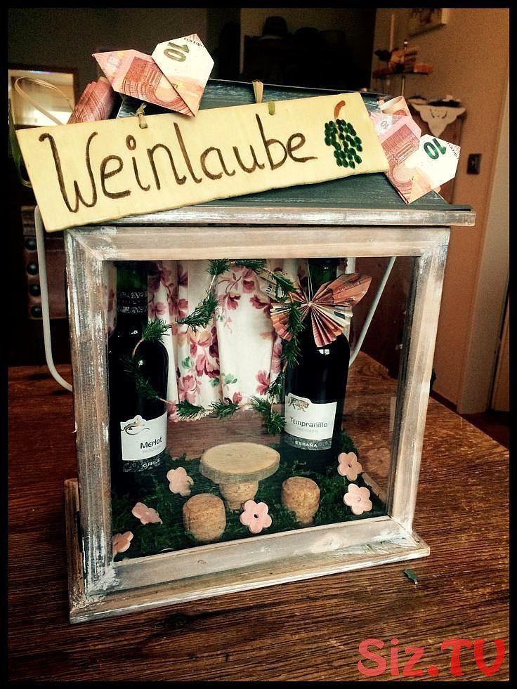 Eine Weinlaube als Geldgeschenk. Für Wein-Liebhaber,  #als #eine #für #Geldgeschenk #menkarte…