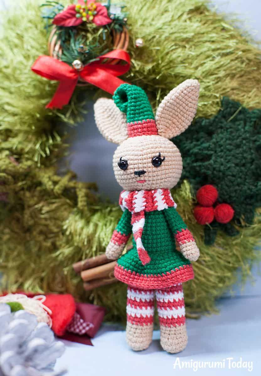 Christmas Bunny crochet pattern | kostenlos amigurumi Muster ...