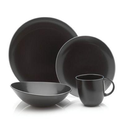 Mikasa Curve Black Dinnerware Collection
