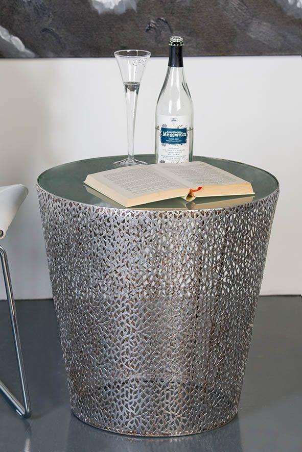Beistelltisch antik silber  Beistelltisch Purley, Antiksilber. http://www.schmolkes ...