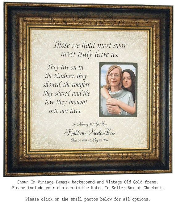 In Memory Frame, Memorial Gift Personalized, Remembrance Gift, In ...
