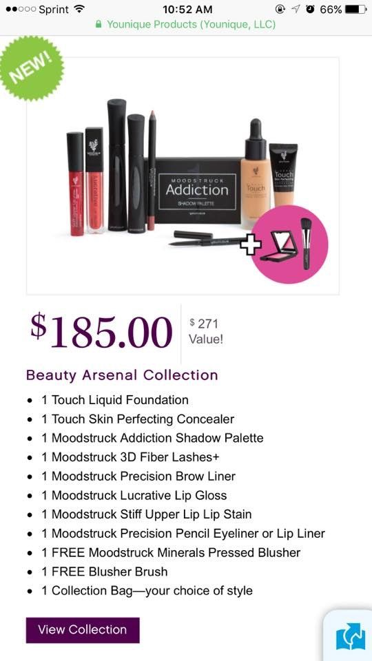 New FREEBIES with 3 of the collections for a LIMITED TIME ONLY!!!!  Most Wanted Collection: now a $71 savings!!! Beauty Arsenal: now a $86 savings!! Younique Royalty: now a $107 savings!!  Www.BeLashful.net