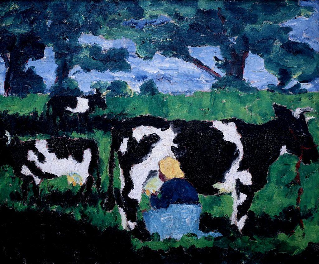 Emil Nolde Black And White Cows 1913 Emil Nolde Emil Nolde