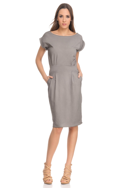 c02345fab Vestido de algodón con lazada Cotton dress with loop