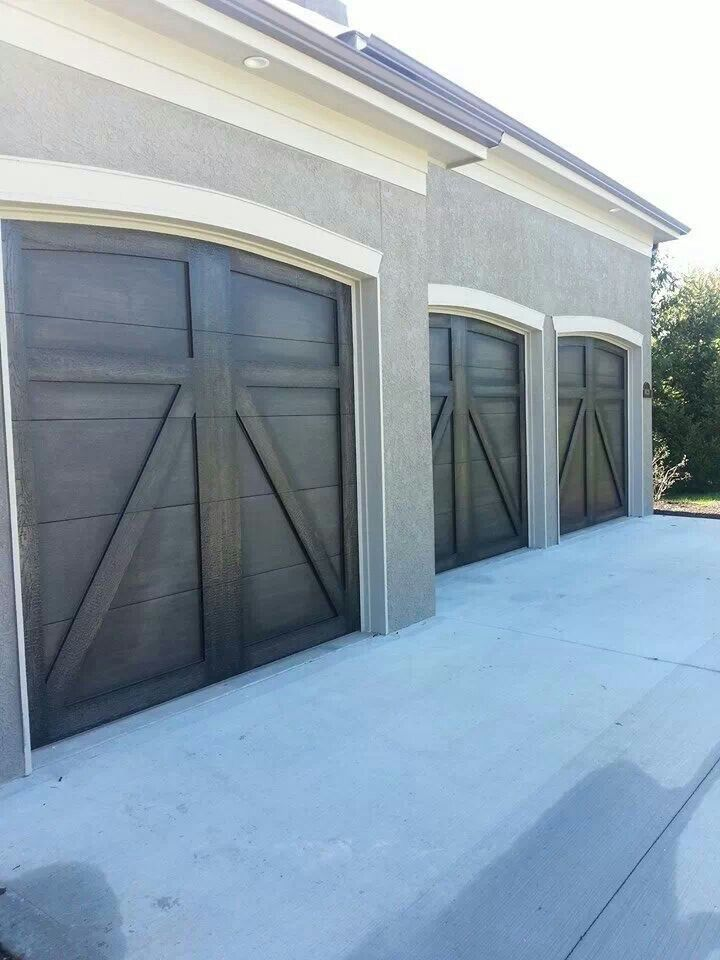 The Magic Brush Faux Wood Painted Garage Doors Garages Pinterest