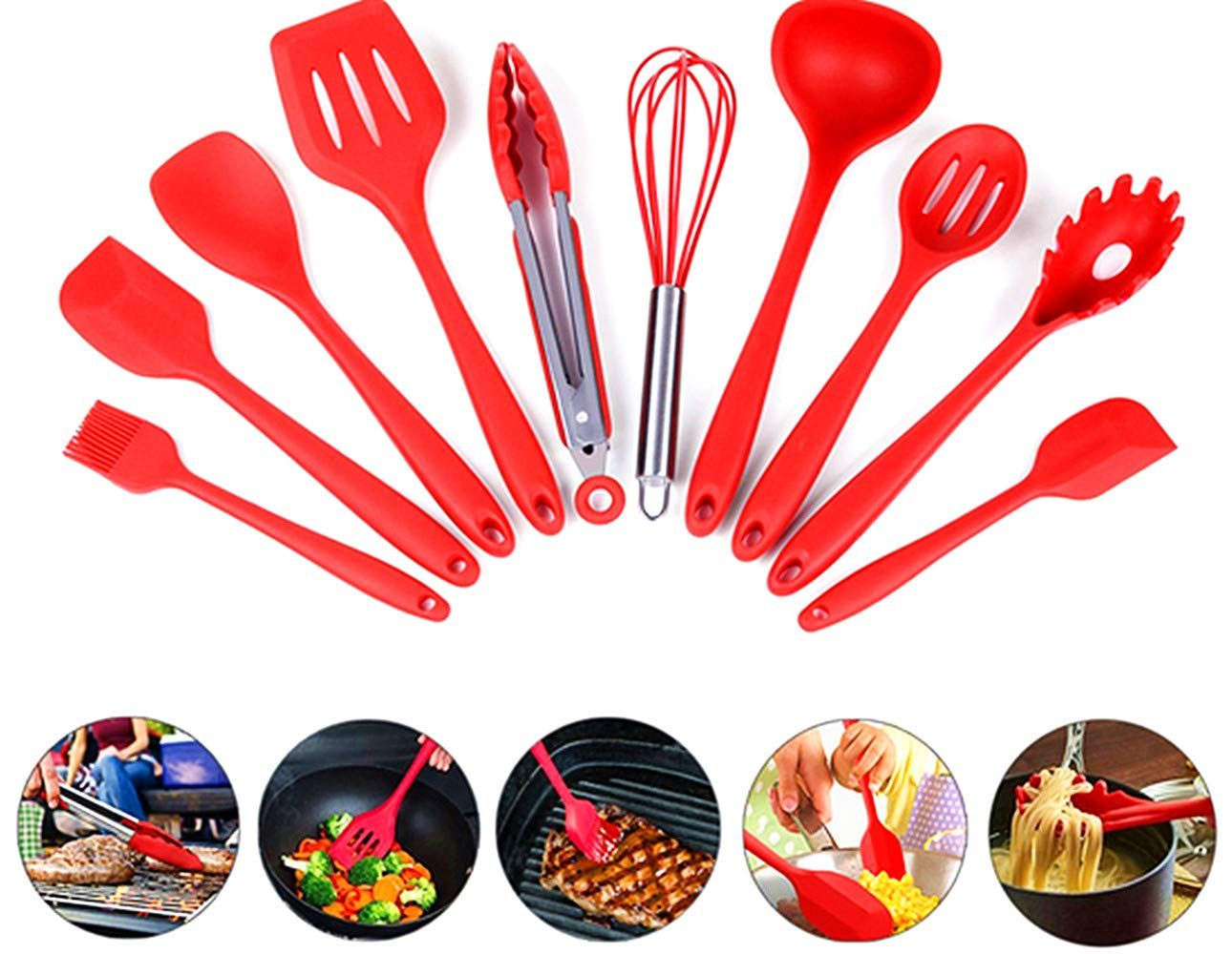 AMLINKER Silicone Heat Resistant Kitchen Cooking Utensil