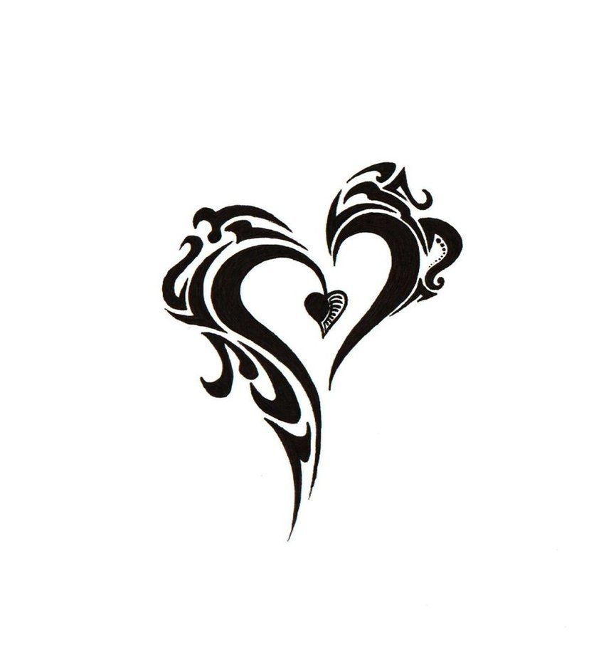 cbdb152dd back of neck...? beautiful tribal heart tattoo designs | new tribal heart  by ~BlakSkull on deviantART