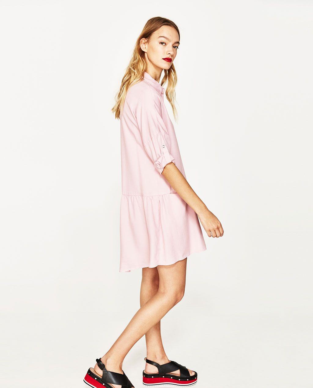 8ad7065d SHIRT DRESS WITH FRILL-NEW IN-WOMAN | ZARA United States | My ...