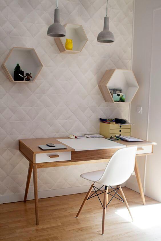 77 gorgeous examples of scandinavian interior design scandinavian office with geometric wall