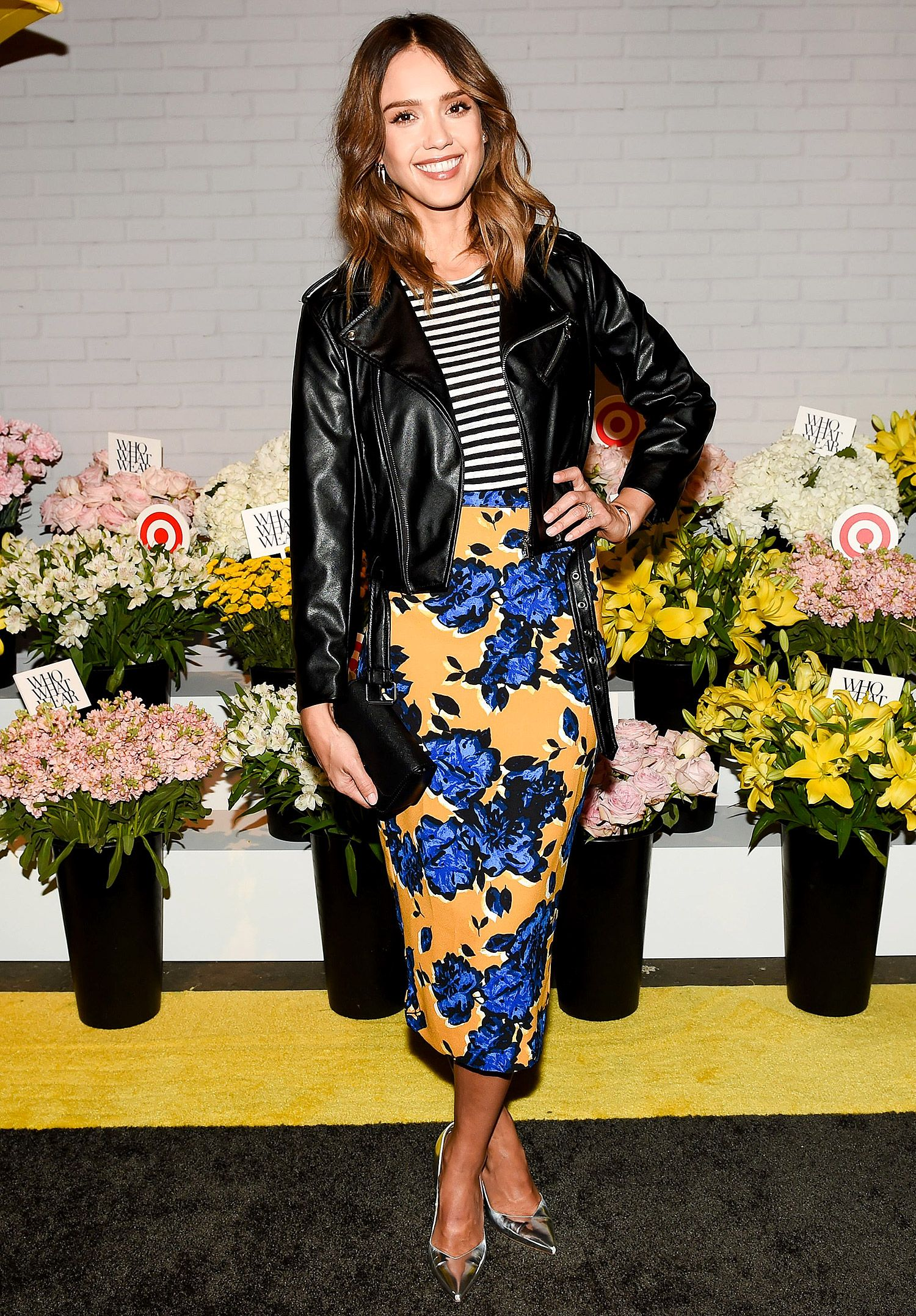 b1d44ec3f JESSICA ALBA And here's an example of when contrasting prints are the way  to go. A floral and stripe is the ultimate cool-girl mix, and Jessica's  succeeds ...