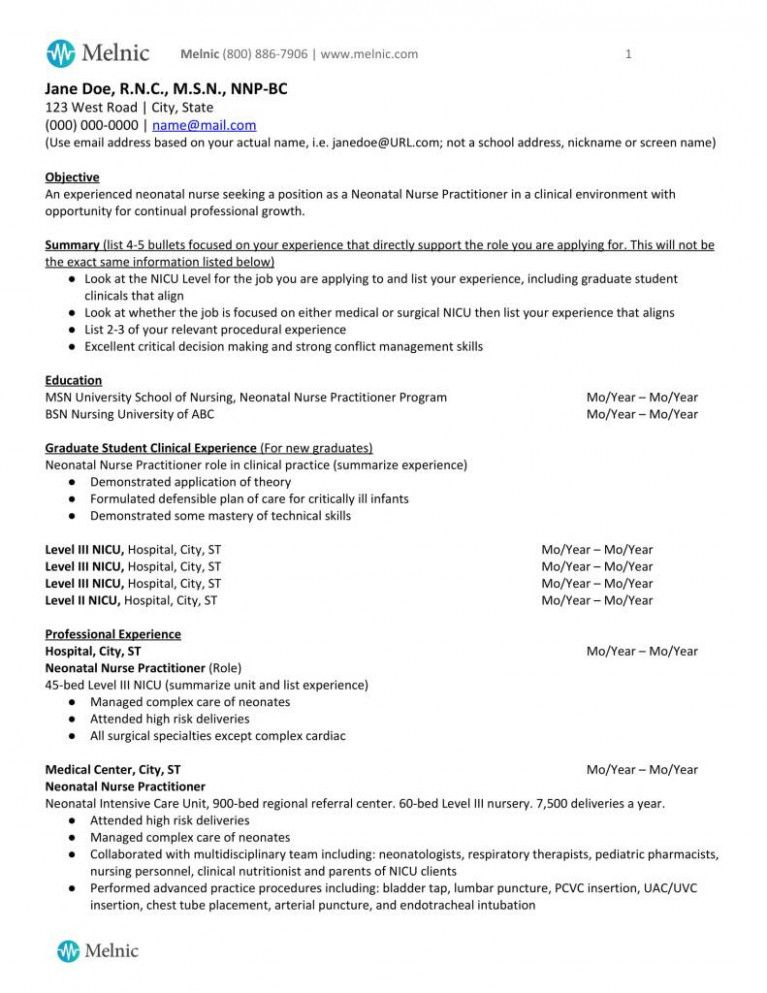 11+ Professional objective for resume nursing Format
