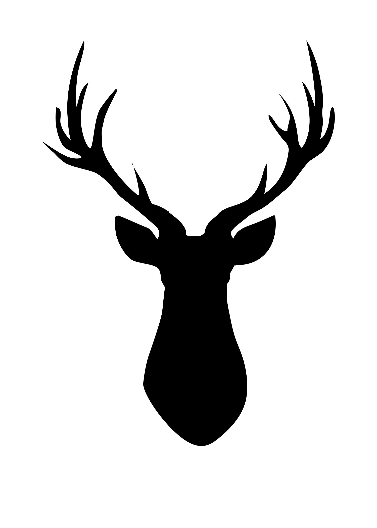 Deer head easy. Pallet silhouette cameo