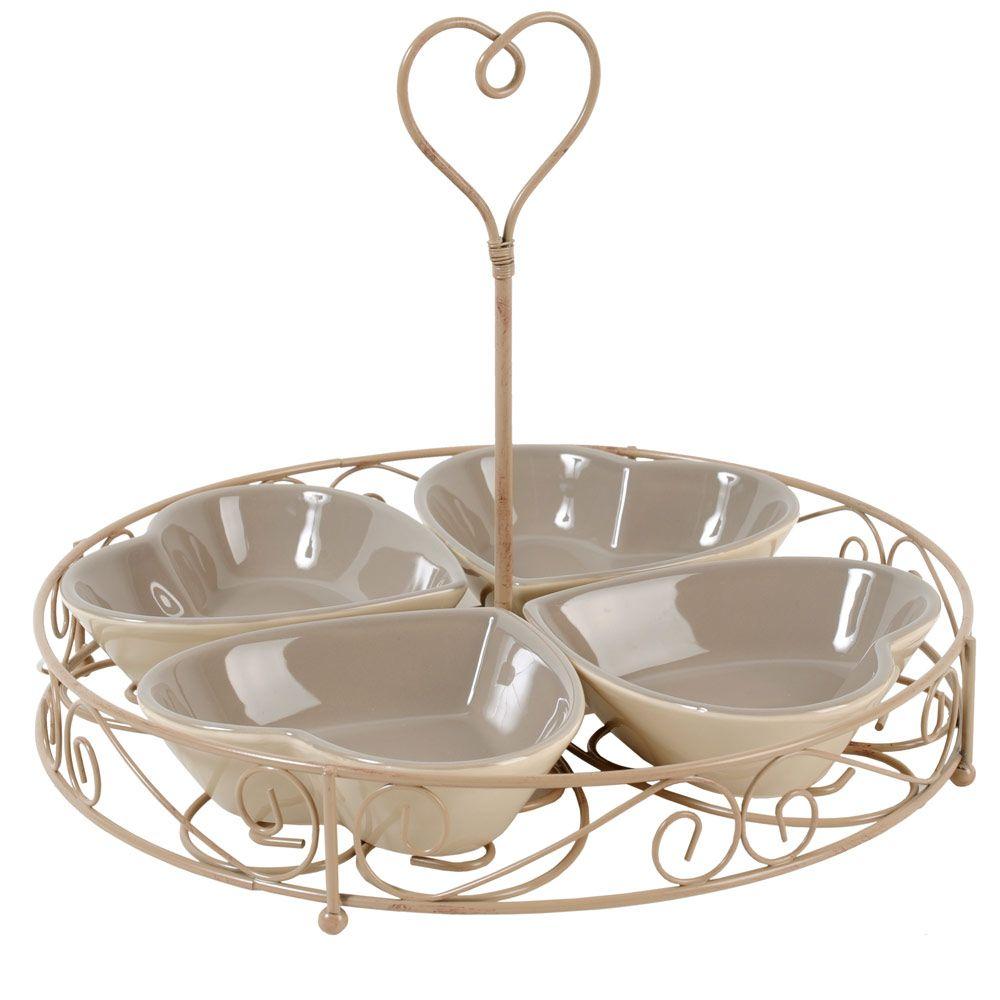 great vassoio da aperitivo cuori corazon maison du monde. Black Bedroom Furniture Sets. Home Design Ideas
