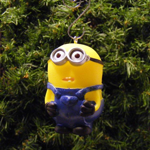 despicable me minion dave christmas ornament by regeekery on etsy - Minions Christmas Decorations