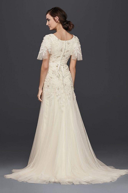 Robot Check   Davids bridal wedding dresses, Modest wedding gowns ...