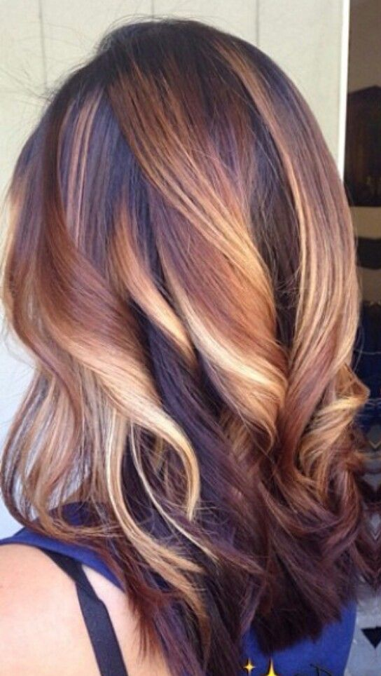 brown dyed hair with a hint of blonde beauty pinterest