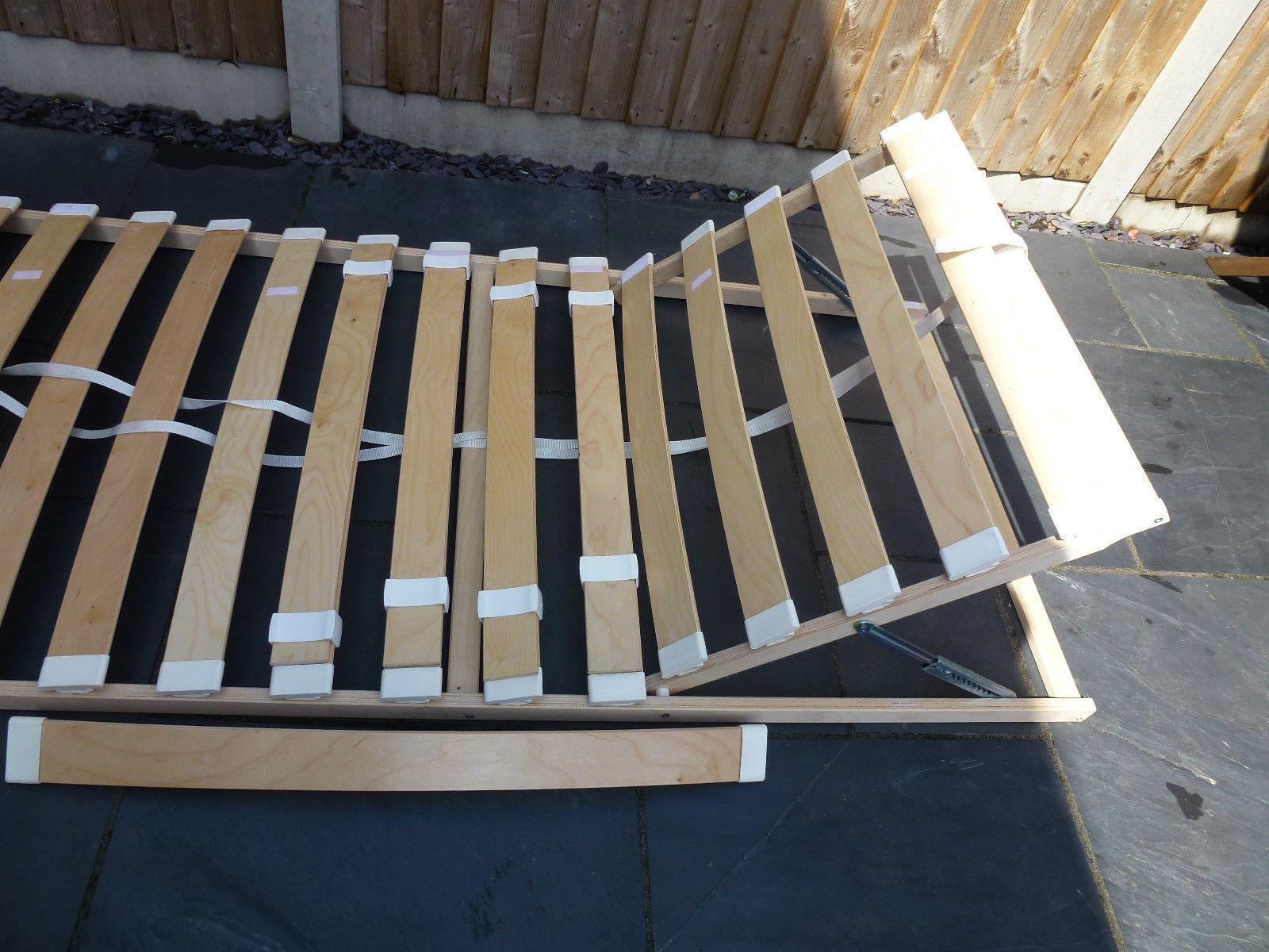 Ikea sultan lovene adjustable slatted bed base furniture for Bed base ikea