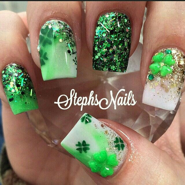 Irish Nails | Nails | Pinterest | Santa patricia y Santos