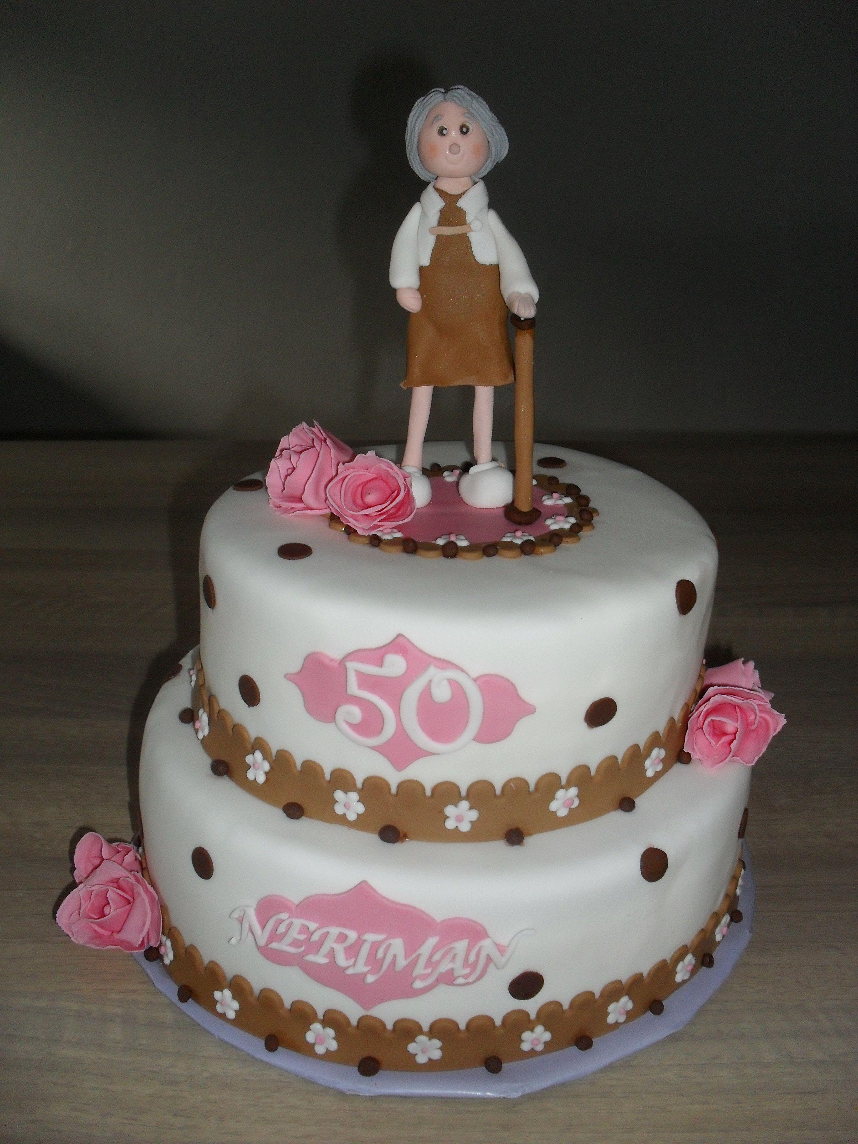 50 jaar stippen taart 50 years polkadot cake