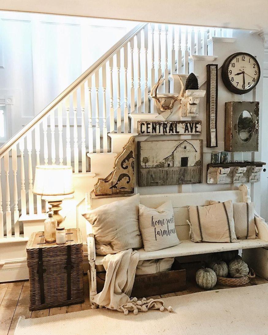 Budget Living Room Modern Farmhouse: 35 Cheap And Easy DIY Rustic Farmhouse Style Home Decor