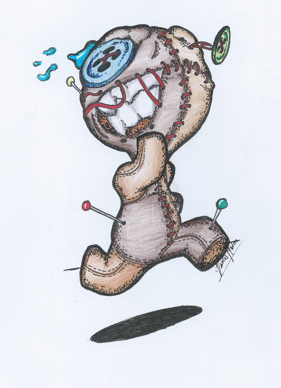scared voodoo doll by Tarcis1000.deviantart.com on ...