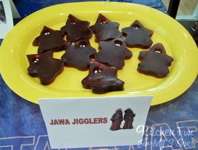 We are on Day 3 of our 2 weeks of Star Wars! We came up with these Jawa Jigglers for my 6 year olds Star Wars birthday party. I figured that most kids love jello jigglers and thought that making them look like Jawa's would be really cute. You will also love how easy these …