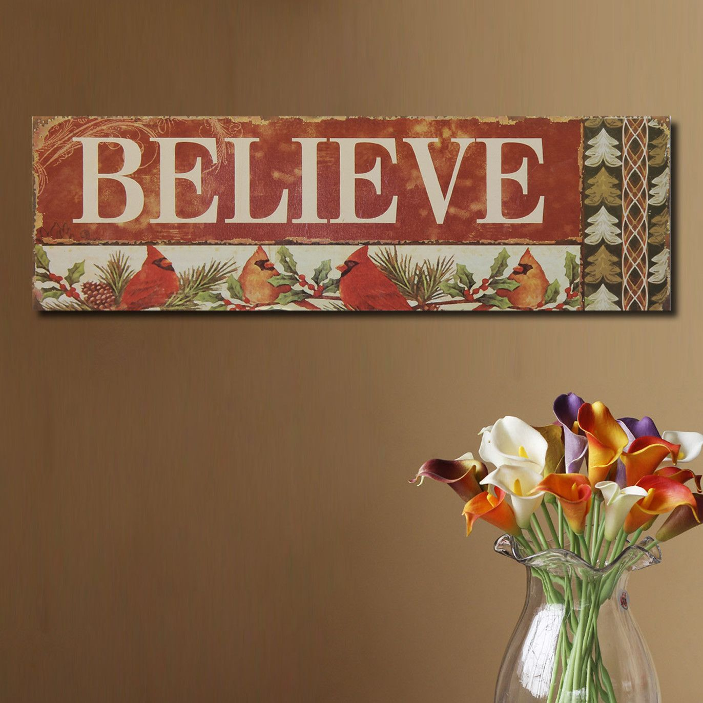 Believe with Cardinals Wall Décor