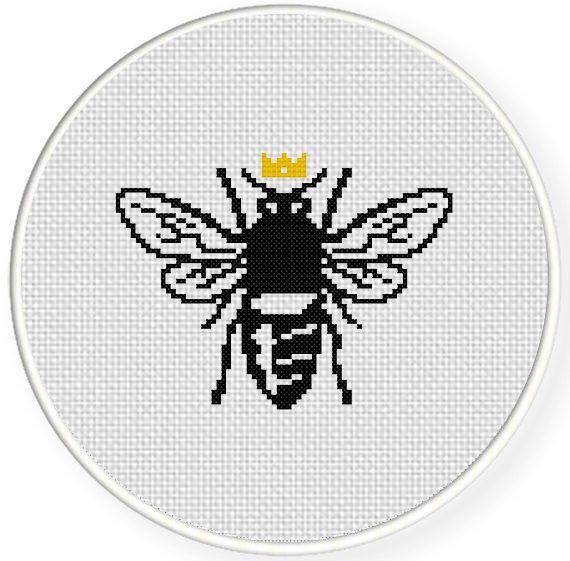 Queen Bee Cross Stitch Pattern Cross Stitch Cross Stitch