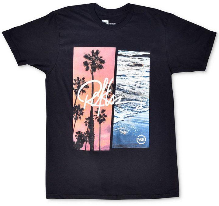 Young Reckless Men S Pacific Coasts Logo Print T Shirt Mens Tops Print T Shirt Top Graphic Tees