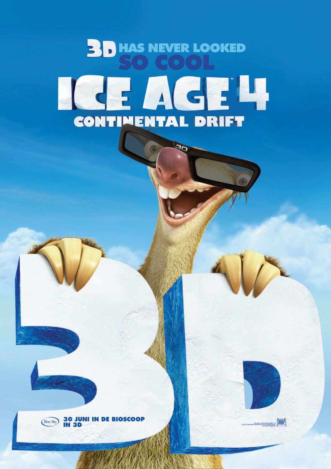 Ice Age: Continental Drift , starring Ray Romano, Denis Leary, John Leguizamo, Aziz Ansari. Manny, Diego, and Sid embark upon another adventure after their continent is set adrift. Using an iceberg as a ship, they encounter sea creatures and battle pirates as they explore a new world. #Animation #Adventure #Comedy #Family