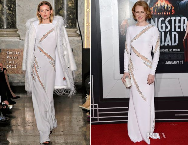 Mireille Enos In Emilio Pucci - 'Gangster Squad' LA Premiere | red ...