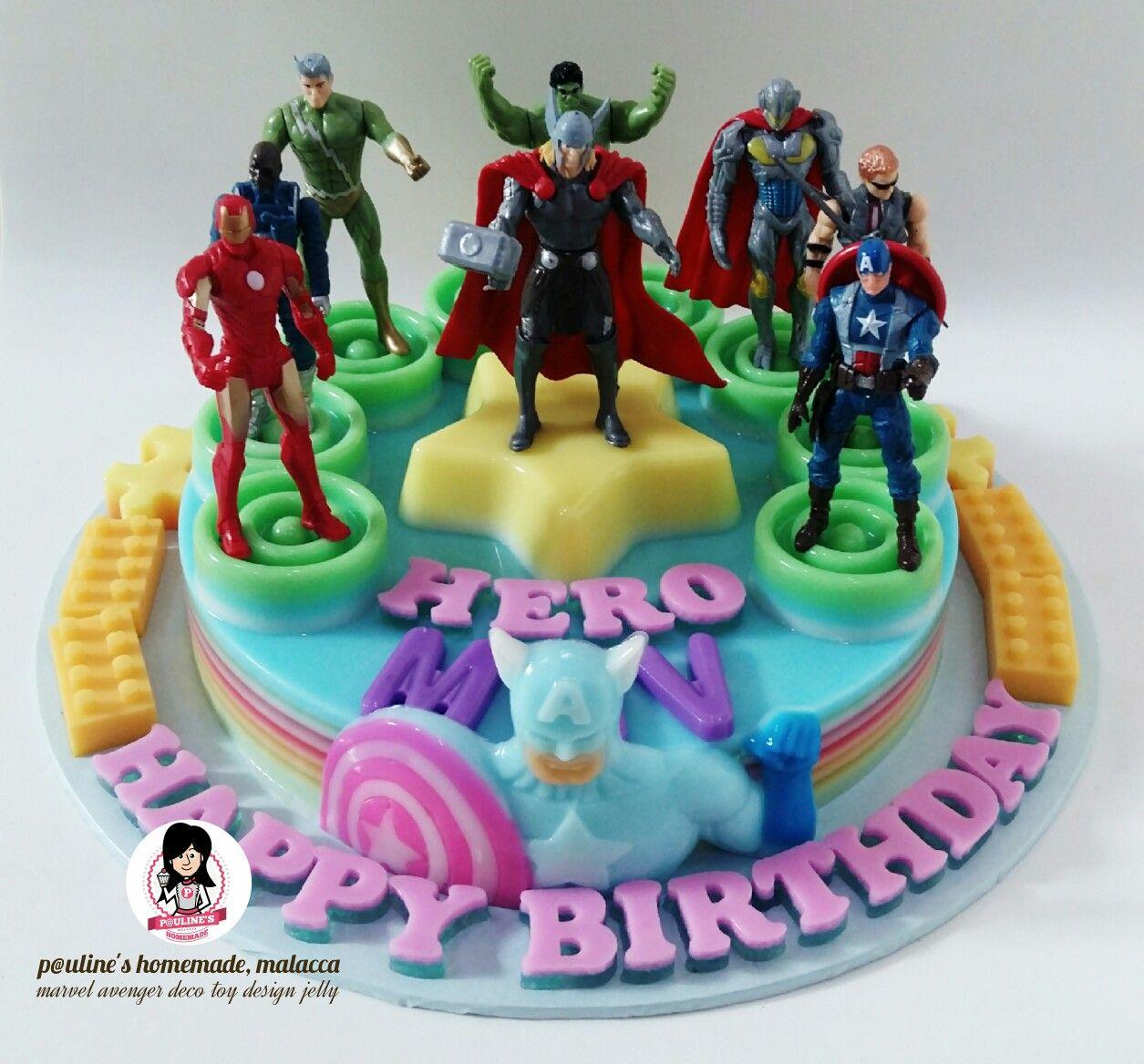 Marvel Avenger Hero Design Jelly Jelly Cake Desserts