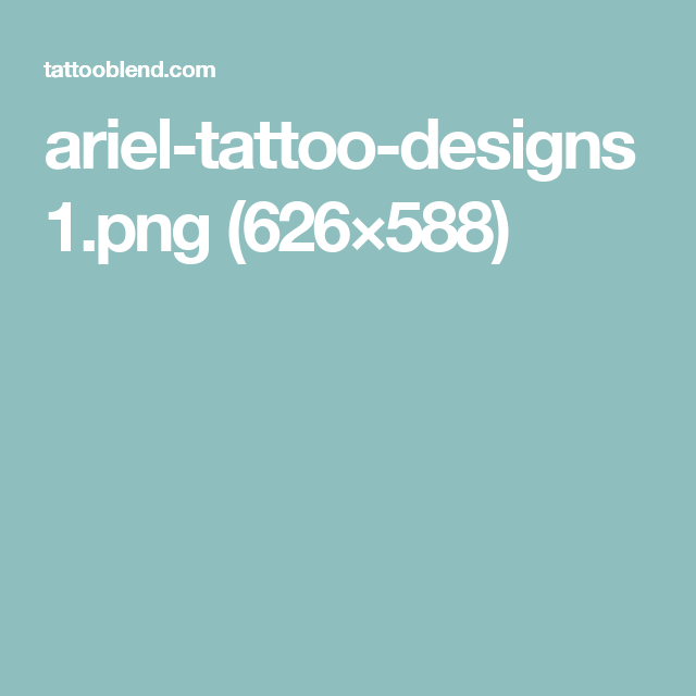 ariel-tattoo-designs1.png (626×588)