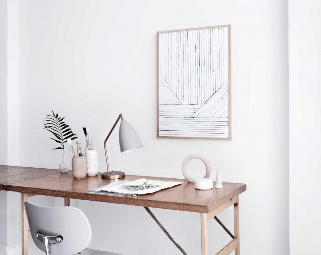 clean | simple | chic | home office | apartment decorating ideas ...