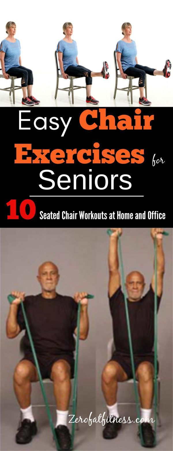 Simple Chair Exercises for Seniors- 10 Seated Chair Workouts at Home and Office. Now save yourself t...