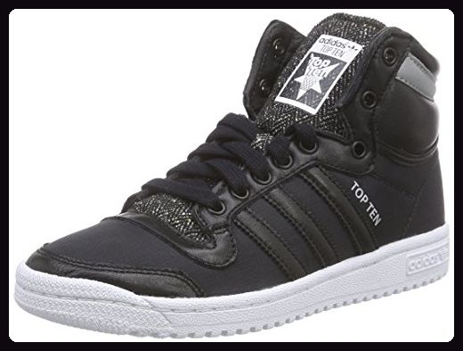 Adidas Top Ten Hi Winterized, unisex Erwachsene sneakers, schwarz