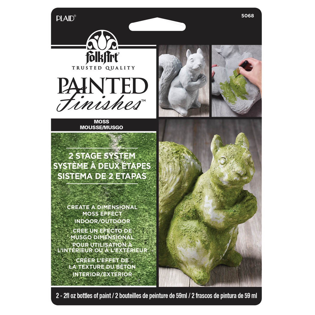 Folkart Painted Finish Kit Moss Products Moss Paint