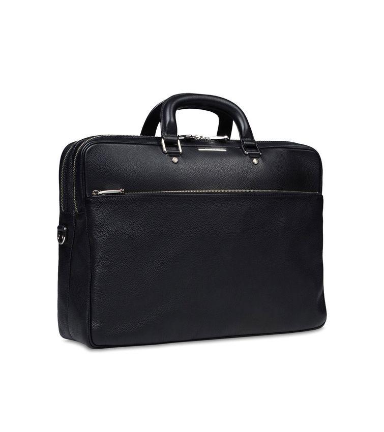 2d670f01 ERMENEGILDO ZEGNA: Office and laptop bag Textured leather Zip ...