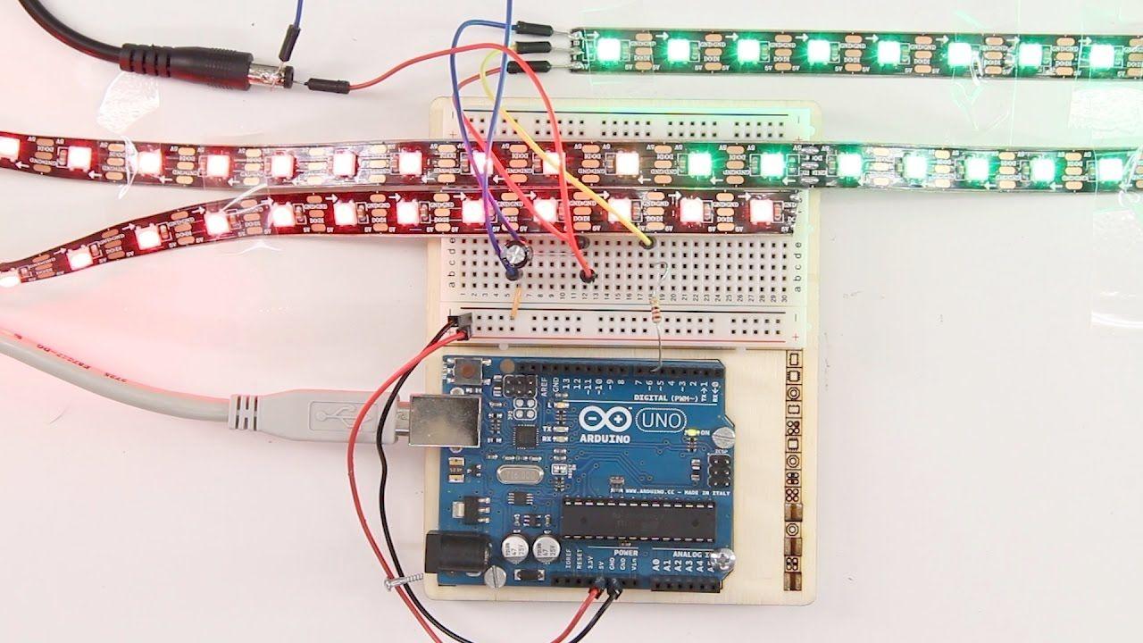 Arduino mit WS2812B Neopixel RGB LED Streifen | Jercio LED