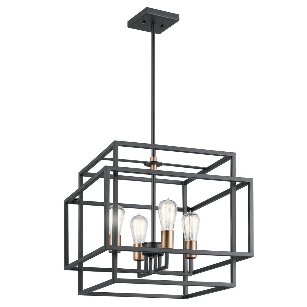 crosby collection large pendant light. Kichler Lighting Taubert Collection 4-light Black Pendant (Steel) Crosby Large Light O