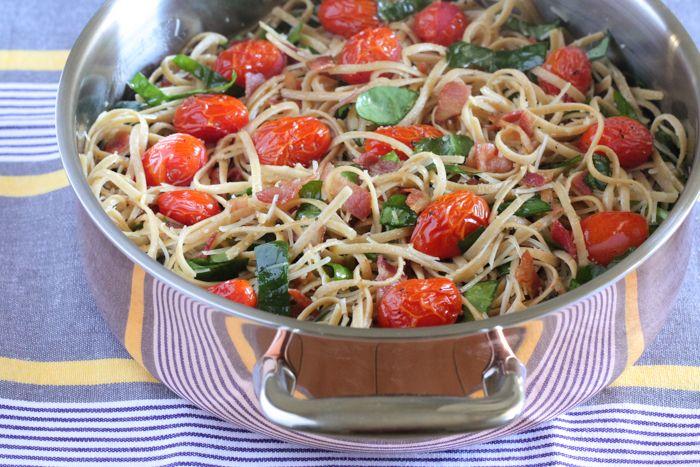 Parmesan Blt Whole Wheat Pasta Recipe Pasta How To Cook Pasta Whole Wheat Pasta