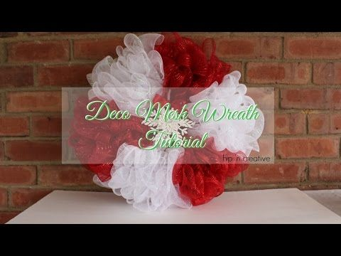 Deco Mesh Wreath Tutorial  Dollar Tree Diy  Hip N Creative