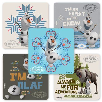 Amazon.com : Disney Frozen Olaf Stickers - 75 Per Pack : Toys & Games