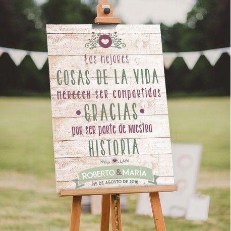 Letreros de Bienvenida en Madera para decorar tu Boda